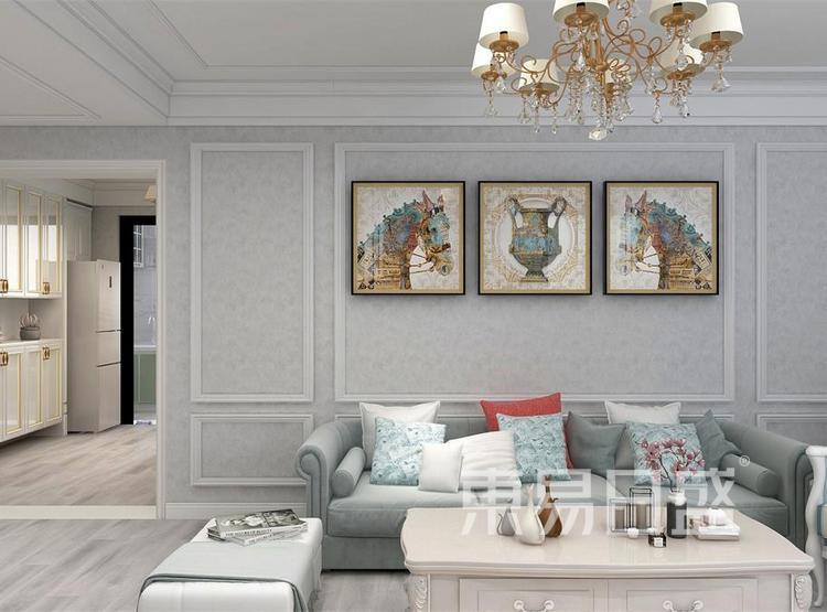 西安客厅装修3 - 简欧风格装修效果图 - 西安装修公司