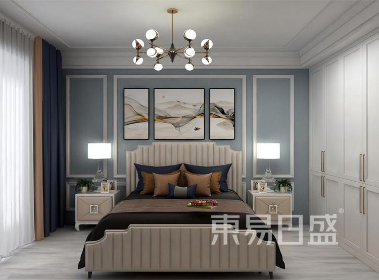 西安卧室装修 - 简欧风格装修效果图 - 西安装修公司