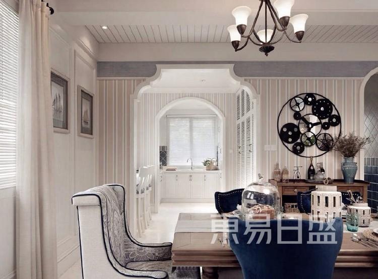 珑璟轩140平米美式轻奢风格餐厅装修效果图