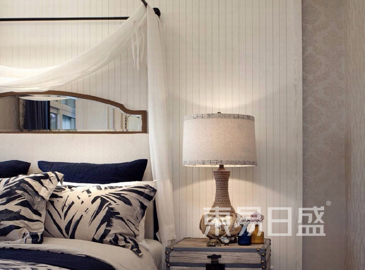 珑璟轩140平米美式轻奢风格卧室装修效果图