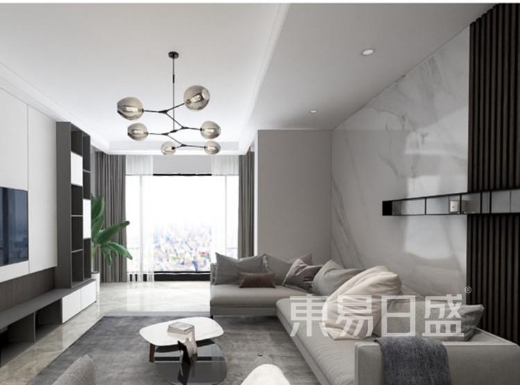 龙湖春江郦城装修案例-现代风格-客厅装修效果图