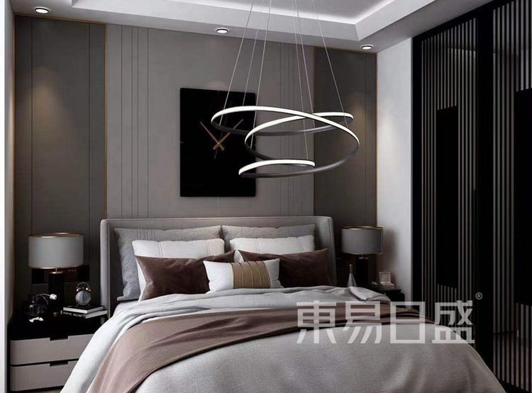 龙湖春江郦城装修案例-现代风格-卧室装修效果图