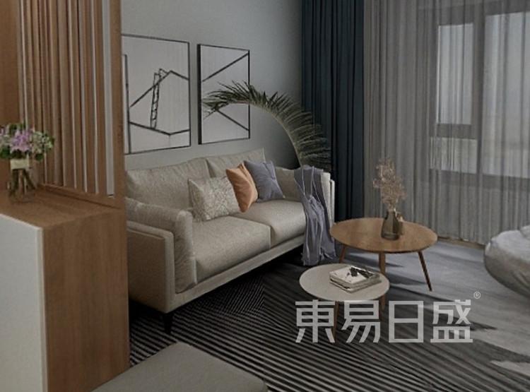 龙湖春江郦城装修案例-北欧风格-客厅装修效果图