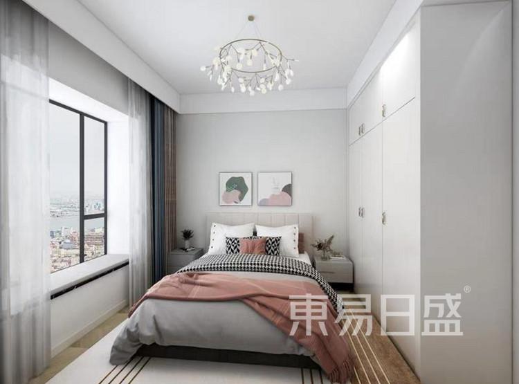 龙湖春江郦城装修案例-北欧风格-卧室装修效果图