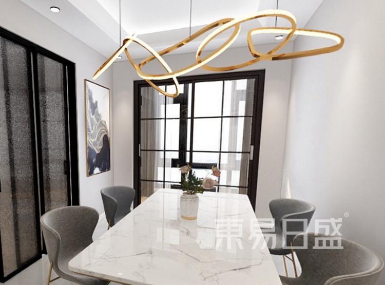 龙湖春江郦城装修案例-现代简约风格-餐厅装修效果图