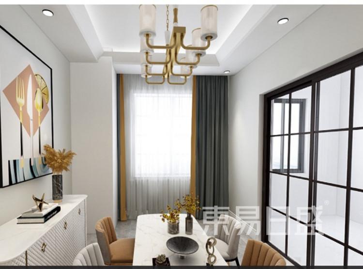 龙湖春江郦城装修案例-现代轻奢风格-餐厅装修效果图