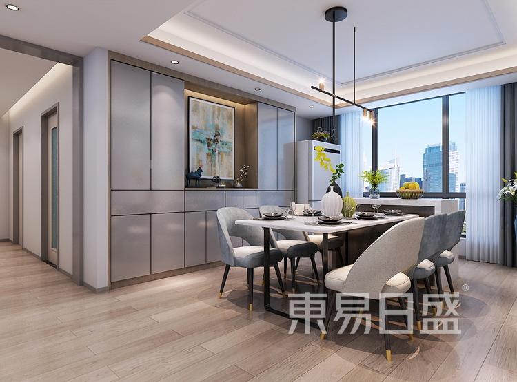 西安餐厅装修 - 现代轻奢风格装修效果图 - 西安装修公司