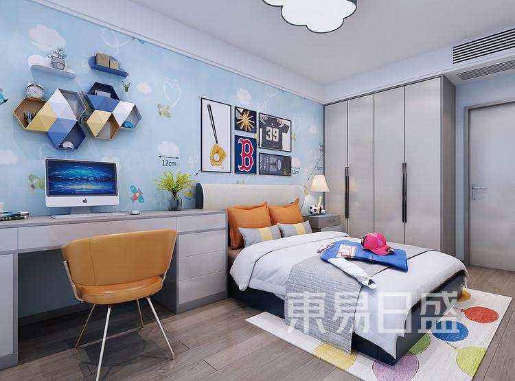 西安儿童房装修 - 现代轻奢风格装修效果图 - 西安装修公司