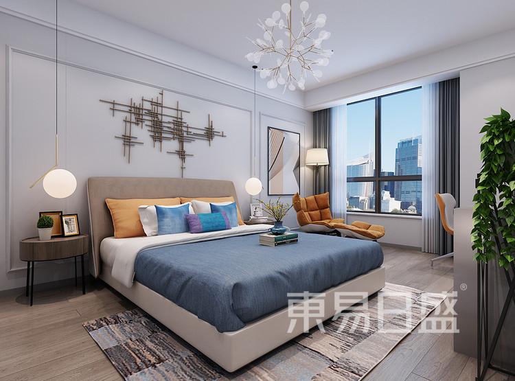 西安卧室装修 - 现代轻奢风格装修效果图 - 西安装修公司