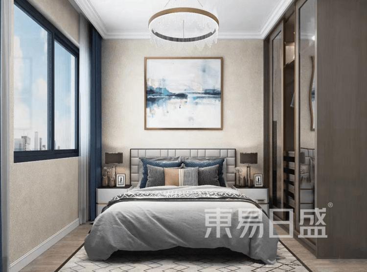 江杨家园95平轻奢风装修设计案例——卧室