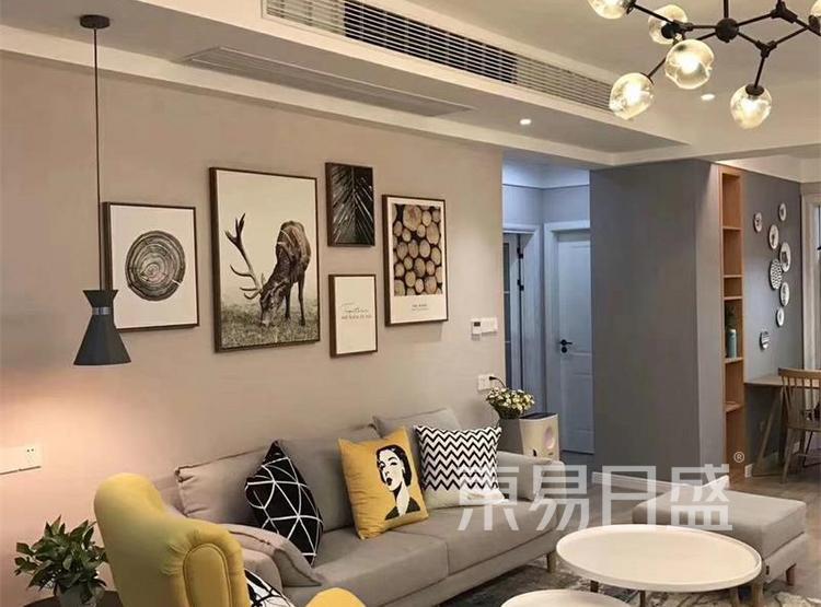 客厅装修效果图2 - 现代简约风格装修效果图 - 90平米装修