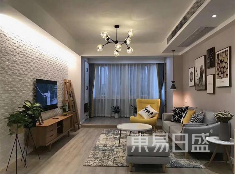 客厅装修效果图3 - 现代简约风格装修效果图 - 90平米装修