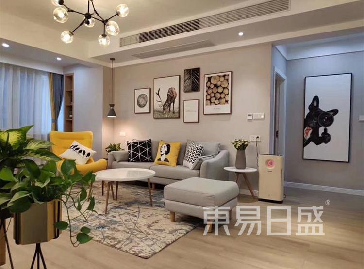 客厅装修效果图4 - 现代简约风格装修效果图 - 90平米装修