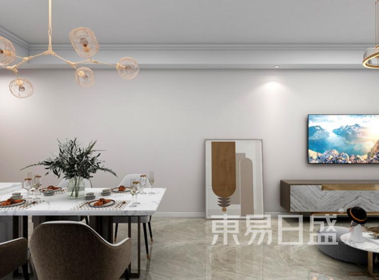 客厅装修效果图 - 现代轻奢装修风格 - 三室两厅装修
