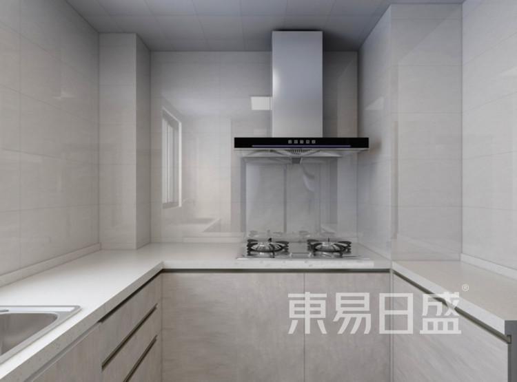 厨房装修效果图3 - 现代轻奢装修风格 - 三室两厅装修