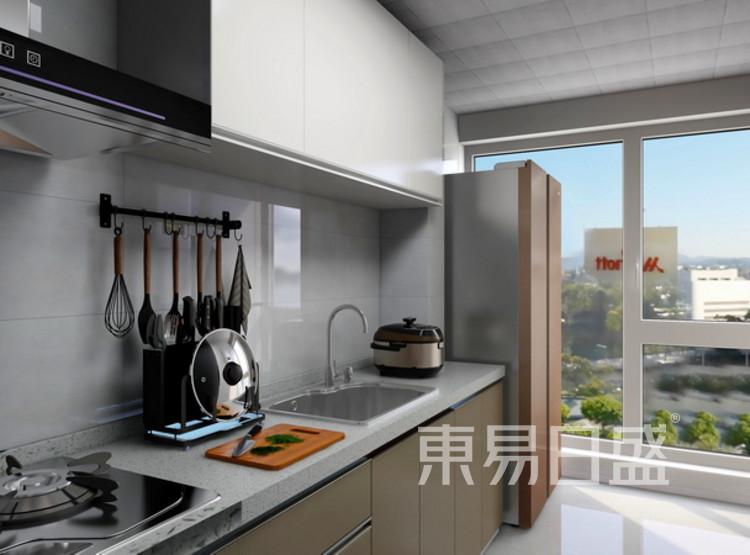 厨房装修效果图 - 三居室装修 - 西安装修公司