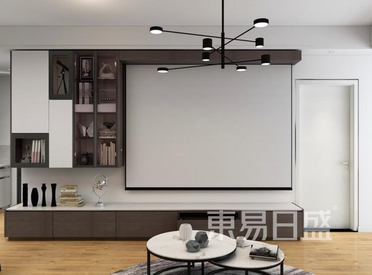 电视背景墙装修公司 - 现代简约风格电视背景墙装修效果图