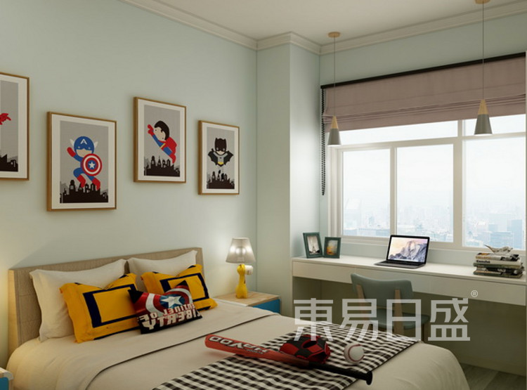 儿童房装修效果图 - 现代简约风格 - 三室两厅装修