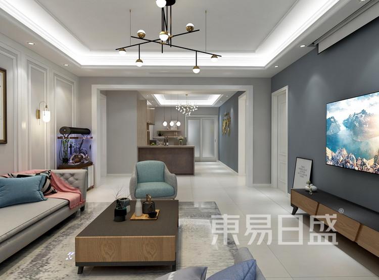 客厅装修效果图 - 现代简约风格 - 西安装修公司