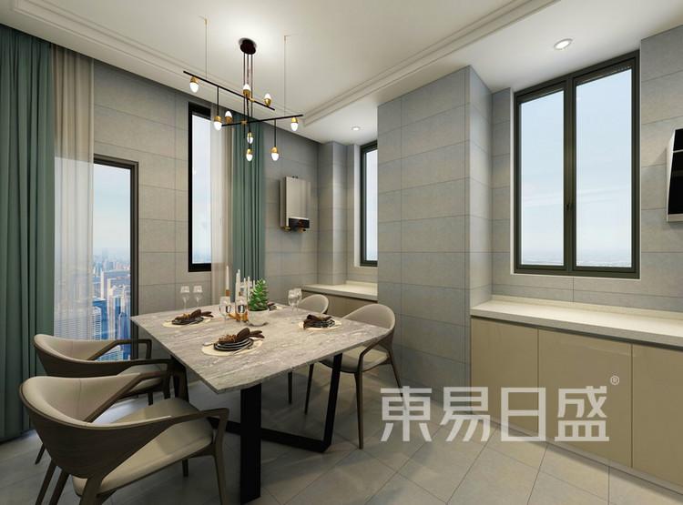 厨房装修效果图 - 现代简约风格 - 西安装修公司