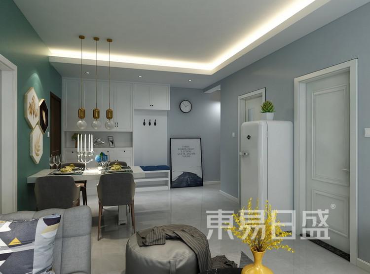 客厅装修 - 现代简约风格装修效果图 - 西安装修公司