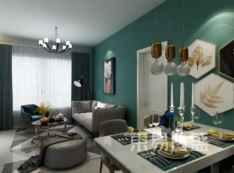 客厅装修2 - 现代简约风格装修效果图 - 西安装修公司