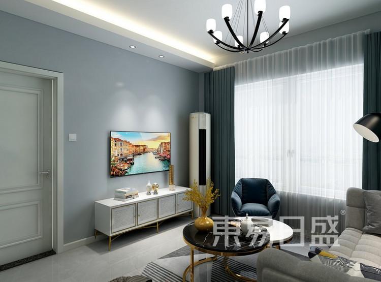 客厅装修3 - 现代简约风格装修效果图 - 西安装修公司