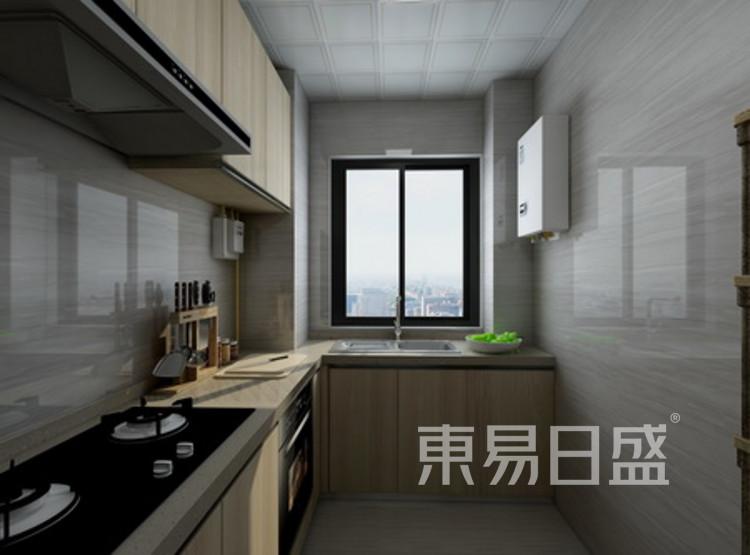 厨房装修 - 现代简约风格装修效果图 - 西安装修公司