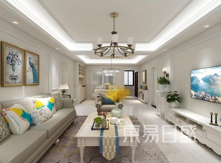 客厅装修效果图 - 间美风格装饰 - 西安装修公司