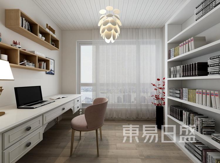 书房阳台装修效果图 - 间美风格装饰 - 西安装修公司