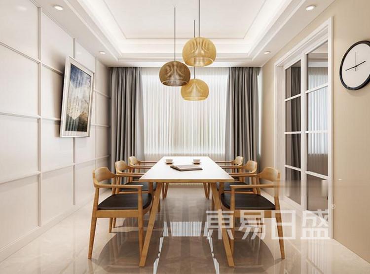 江杨家园69平二居室现代风装修设计案例——餐厅