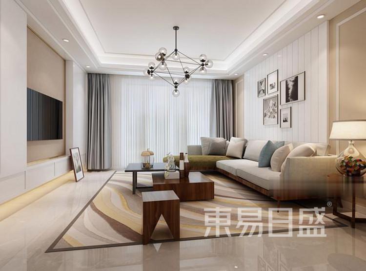 江杨家园69平二居室现代风装修设计案例——客厅