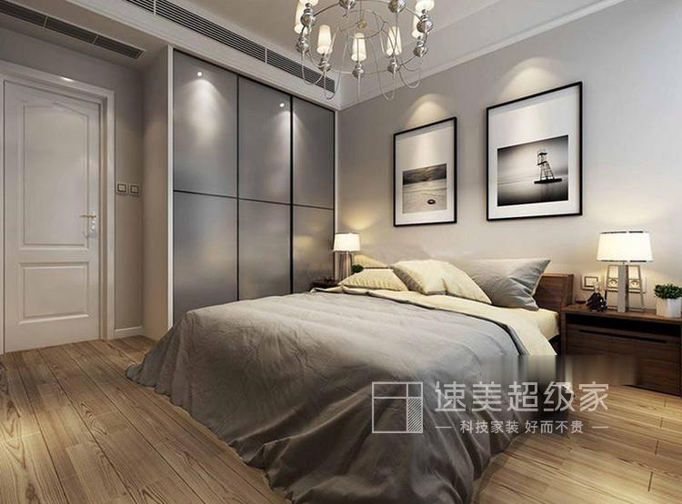 江杨家园69平二居室现代风装修设计案例——卧室