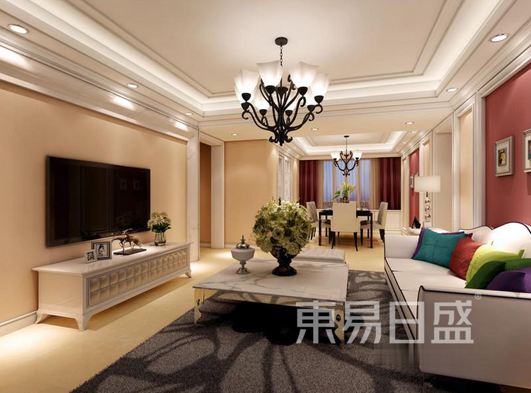 江杨家园60平二居室现代风装修设计案例——客厅