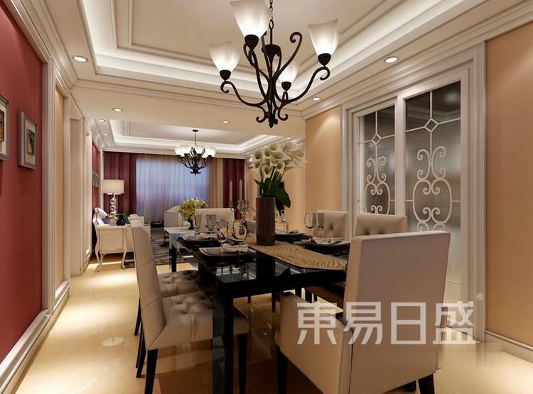 江杨家园60平二居室现代风装修设计案例——餐厅
