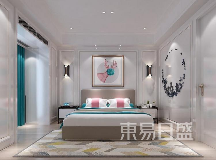江杨家园90平三居室现代风装修设计——卧室