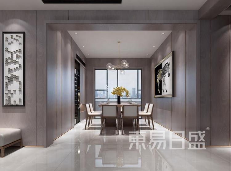 江杨家园90平三居室现代风装修设计——餐厅