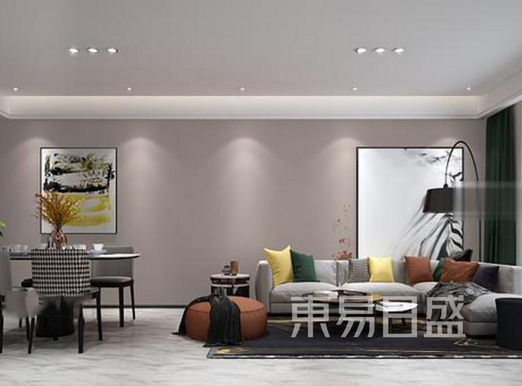 江杨家园110平三居室现代风装修设计案例效果图——客厅