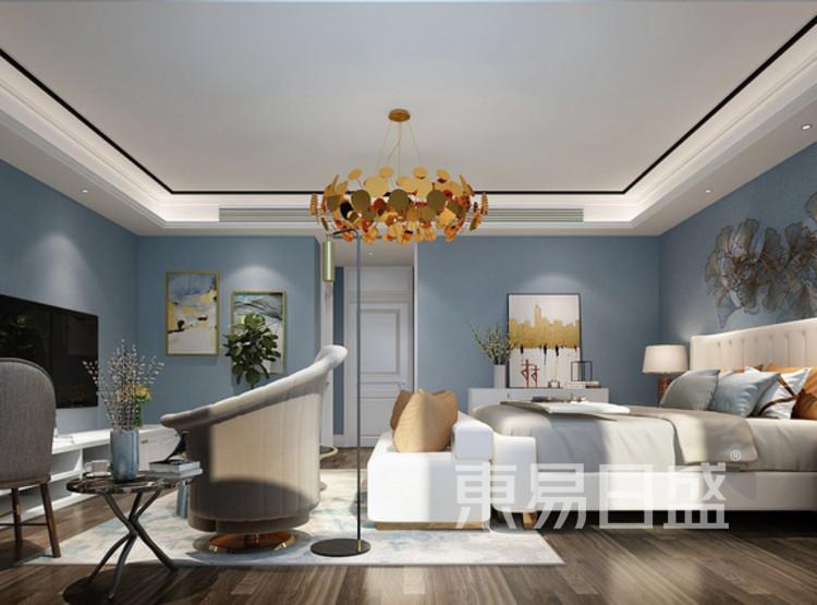 江杨家园100平三居室现代轻奢风格装修设计案例——卧室