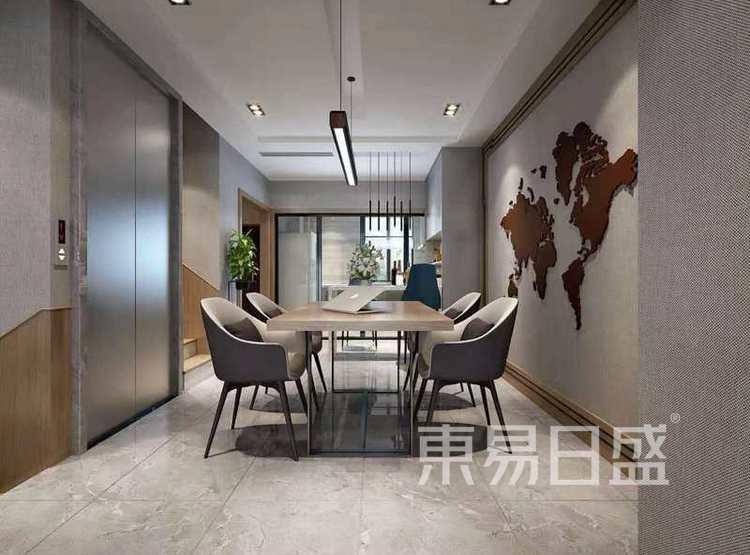 江杨家园90平三居室现代风格装修设计案例——餐厅