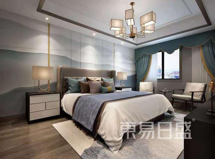 江杨家园90平三居室现代风格装修设计案例——卧室