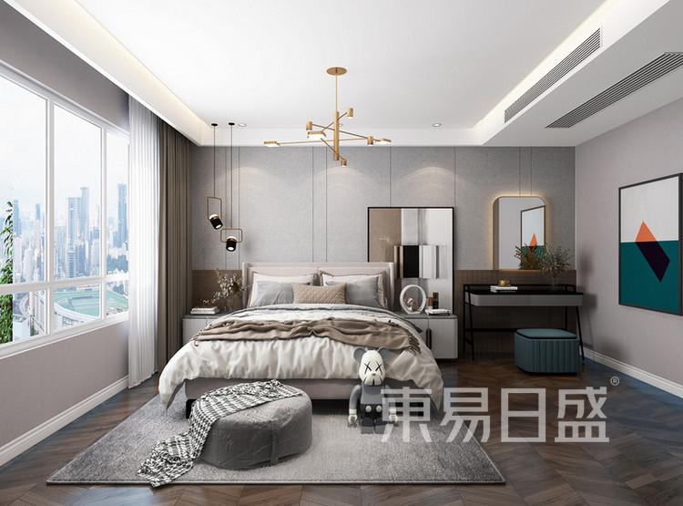 北控雁栖湖现代简约风格装修效果图——卧室