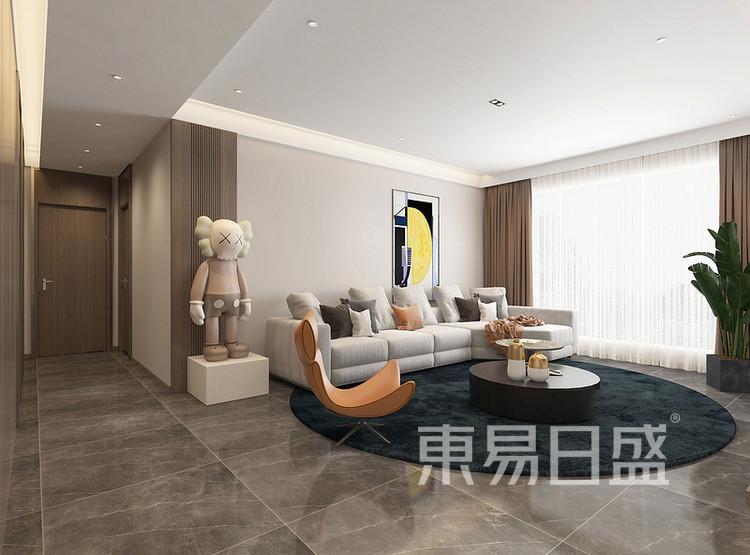 北控雁栖湖现代简约风格装修效果图——客厅