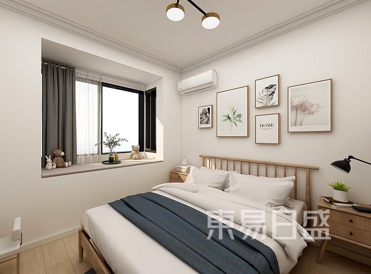 嘉邦小区70平二居室北欧原木简约案例——卧室