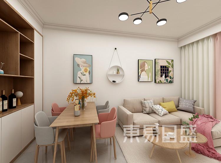 嘉邦小区70平二居室北欧原木简约案例——餐厅