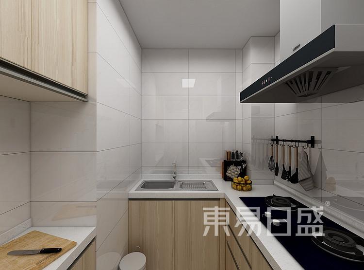 嘉邦小区70平二居室北欧原木简约案例——厨房
