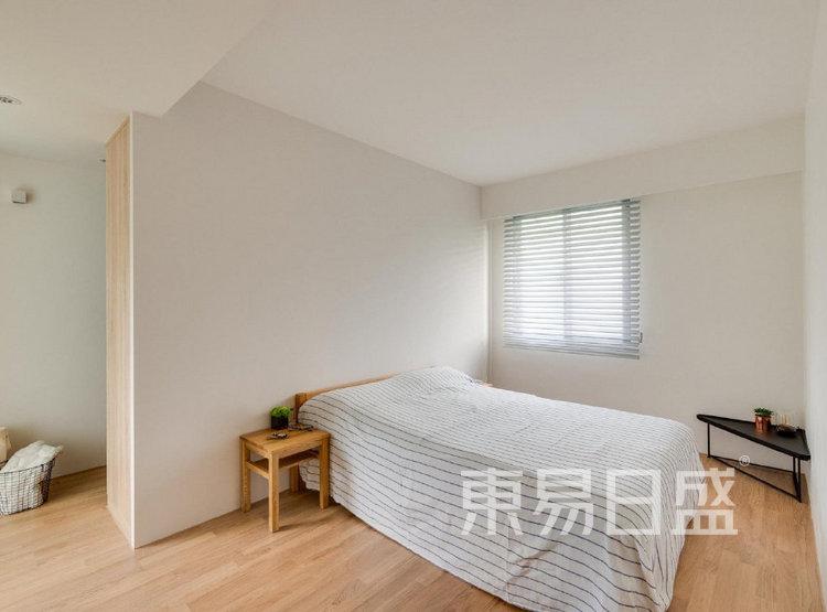 江杨家园100平三居室原木风装修设计案例——卧室