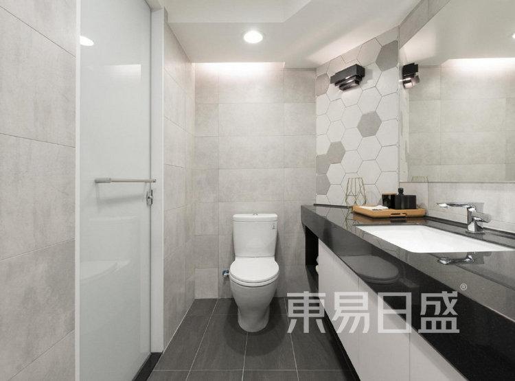 江杨家园100平三居室原木风装修设计案例——卫生间