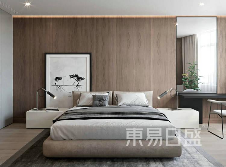 江杨家园130平现代简约三居室装修设计案例——卧室