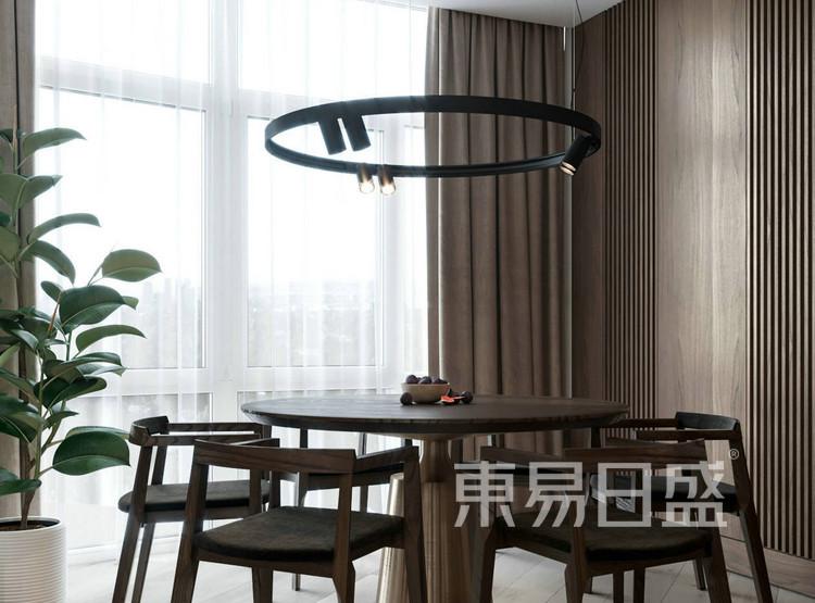 江杨家园130平现代简约三居室装修设计案例——餐厅